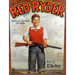 Plaque métal publicitaire 30x40cm plate : Red Ryder Air Rifle