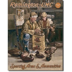 Plaque métal publicitaire 30x40cm plate : REMINGTON-UMC