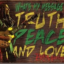 Pour votre décoration cette plaque publicitaire 30x40 cm plate : Bob Marley
