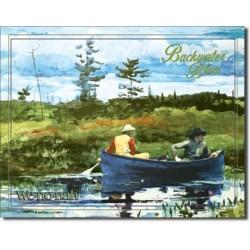 Plaque métal publicitaire 30x40cm plate : Wenonah backwater Blues