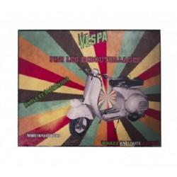 Plaque métal  22x28cm plate :  SCOOTER VESPA