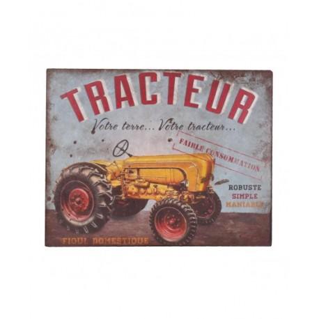 Plaque métal  22x28cm plate :  TRACTEUR
