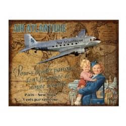 Plaque métal  36x28 cm plate :  AIR ATLANTIQUE