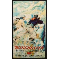 Plaque métal publicitaire 30x40cm plate : Winchester erifles and Cartridges