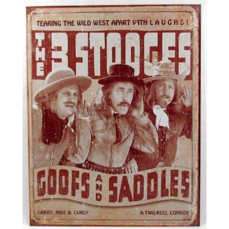 Plaque métal publicitaire 30x40cm plate : The 3 Stooges