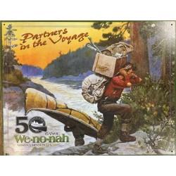 Plaque métal publicitaire 30x40cm plate : Wenonah Partners in the Voyage