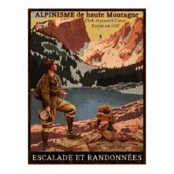 Plaque métal  25x33cm plate :  Alpinisme de haute montagne