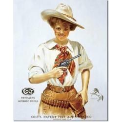 Plaque métal publicitaire 30x40cm plate :  COLT Revolvers Automatic Pistols
