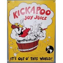 Plaque métal publicitaire 30x40cm plate : KICKAPOO JOY JUICE