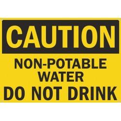Plaque métal publicitaire 30x40cm plate : CAUTION DO NOT DRINK WATER