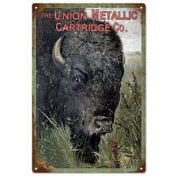 Plaque métal publicitaire 30x40cm plate : The Union Metallic Cartridge