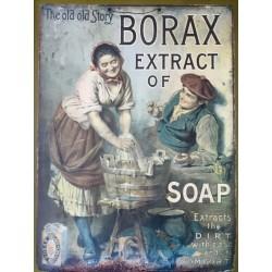 Plaque métal publicitaire 30x40cm plate : Borax
