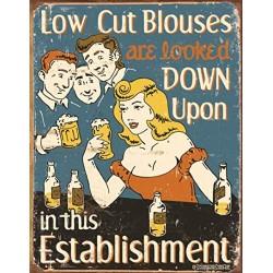 Plaque métal publicitaire 30x40cm plate : Low Cut Blouses