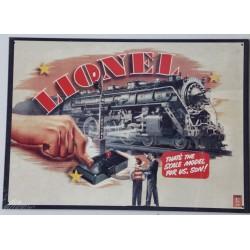 Plaque métal publicitaire 40x29cm plate : Lionel