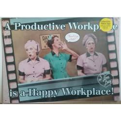Plaque métal publicitaire 38x30cm plate : A Productive Workplace