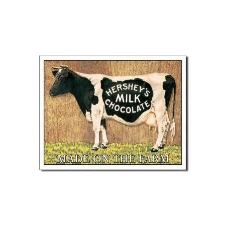 Plaque métal publicitaire 40x30cm plate : HERSHEY'S MILK CHOCOLATE