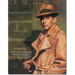 Plaque métal publicitaire 30x40cm plate : HUMPHREY BOGART