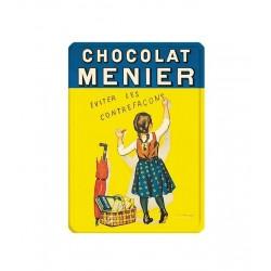 Magnet émaillé plat dimension 5,5 x 7,5 cm : CHOCOLAT MENIER