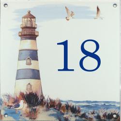 Plaque émaillée 15 x 15 cm : Décor phare