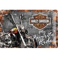 plaque métal publicitaire 20x30cm bombée en relief :  HARLEY-DAVIDSON My Favorite Ride