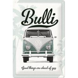plaque métal publicitaire 20x30cm bombée en relief :  VW Combi Bulli