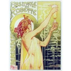 plaque publicitaire plate 15x20cm:  Absinthe Robette