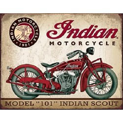 Plaque métal publicitaire 30x40cm plate : INDIAN SCOUT MODEL 101
