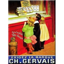 Plaque métal publicitaire  15x20cm plate  :  Ch. GERVAIS