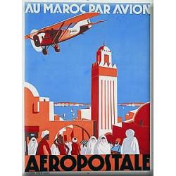 Plaque métal publicitaire 15x20cm plate :  AEROPOSTALE