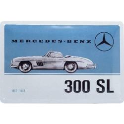 plaque métal publicitaire 20x30cm bombée en relief :  MERCEDES BENZ 300 SL
