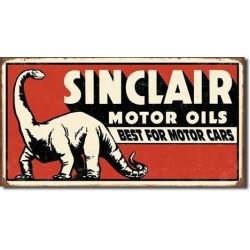 Plaque métal  publicitaire 21x40cm plate : SINCLAIR MOTOR OILS