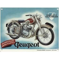 plaque métal publicitaire 20x30cm bombée en relief :  MOTO PEUGEOT
