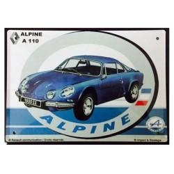 plaque métal publicitaire 20x30cm bombée en relief :  ALPINE A110