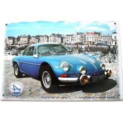plaque métal publicitaire 20x30cm bombée en relief :  ALPINE A110 - Port Dieppe