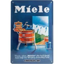 plaque métal publicitaire 20x30cm bombée en relief :  MIELE