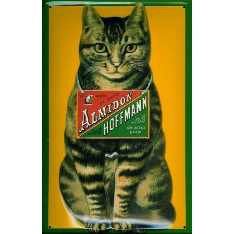 plaque métal publicitaire 20x30cm bombée en relief :  ALMIDON HOFFMANN