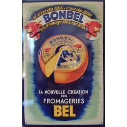 plaque métal publicitaire 20x30cm relief  : BONBEL
