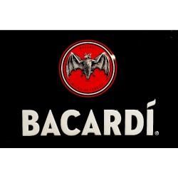 Plaque métal publicitaire 20x30 cm bombée en relief  : LOGO Bacardi