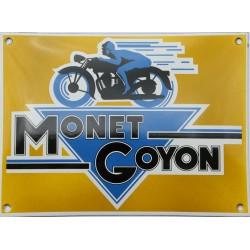 Plaque émaillée bombée 20 x 27 cm : MONET GOYON