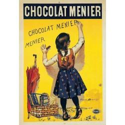 plaque métal publicitaire 20x30cm bombée en relief :  CHOCOLAT MENIER
