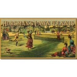 Plaque métal décorative 40 x 22 cm plate : HORSEMAN'S LAWN TENNIS