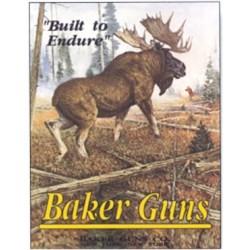Plaque métal décorative 40 x 31 cm plate : BAKER GUNS