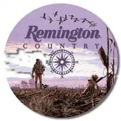 Plaque métal décorative diamètre 30 cm : REMINGTON COUNTRY