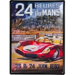Plaque métal en relief 30 x 40 cm : 24h du Mans 1962