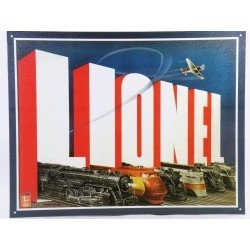Plaque métal décorative 40 x 32 cm plate : LIONEL TRAINS