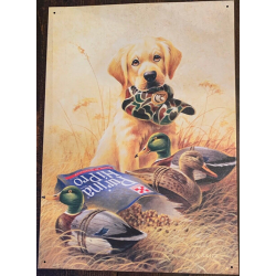 Plaque métal décorative 40 x 29 cm plate : LR KAATZ LABRADOR