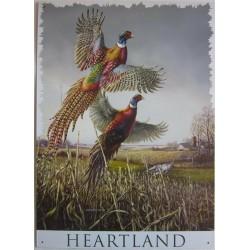 Plaque métal décorative 44 x 32 cm plate : HEARTLAND