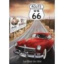 plaque métal publicitaire 30x40cm : Route US66