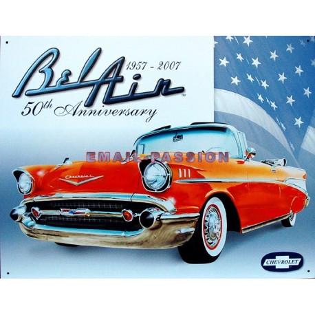Plaque métal publicitaire 30 x 40 cm : Chevrolet Bel Air