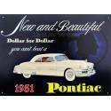 Plaque métal publicitaire 25 x 40 cm : Pontiac